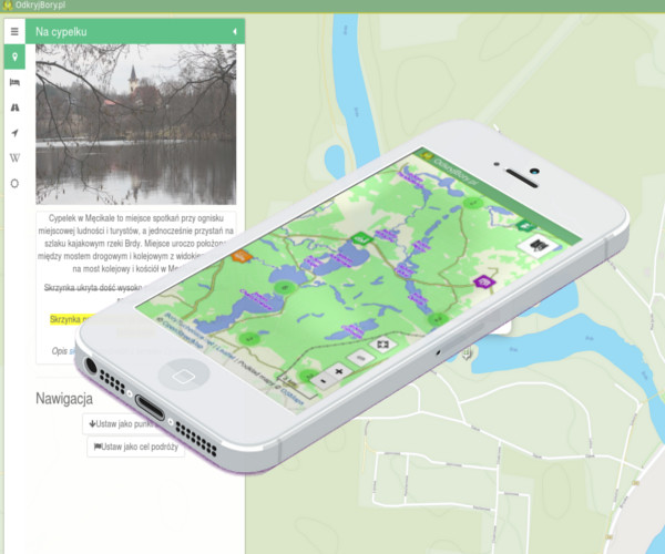 Discover trails of Tuchola Forest (Bory Tucholskie) with web interactive map. <br/> The map contains a lot of points and has functions which supports tourism in destination.